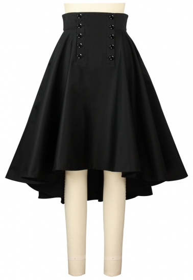Chic Star - A-Line Double Button Skirt